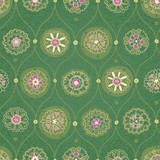 Vintage seamless wallpaper with floral ornament.