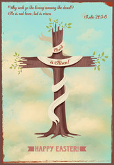 Vintage style religious Easter poster