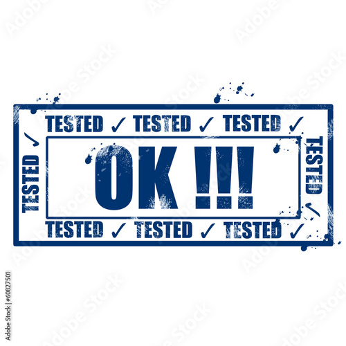 Tested ok stamp