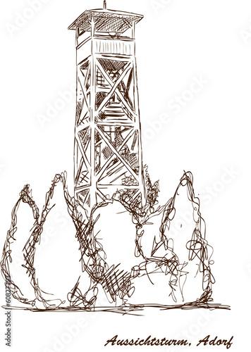 Aussichtsturm Turm Adorf Vogtland
