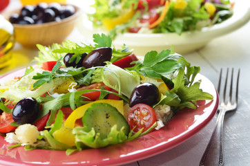 Healthy vegetable fresh organic salad
