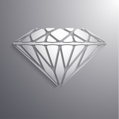 Abstract diamond shaped paper 3d icon - eps10 vector