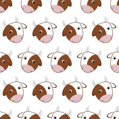 Seamless pattern of cows