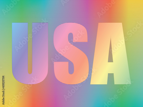 USA over spectrum background