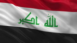 Flag of Iraq waving in the wind - seamless loop