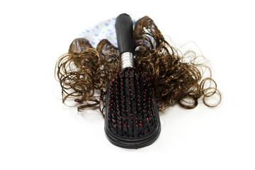 Haarkamm mit Haarperücke
