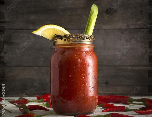 Fotobehang Bar Bloody Mary in Mason Jar