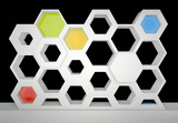 hexagonal showcase