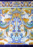 Art Nouveau decorative tile, background, fantasy