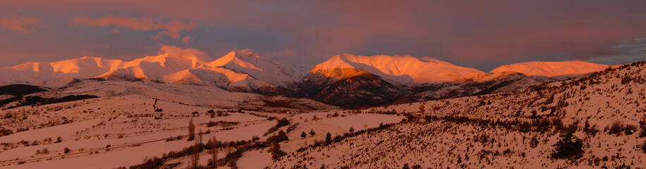 South face sunset, Pallars, Pyrenees, Catalonia