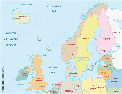 Northern Europe map