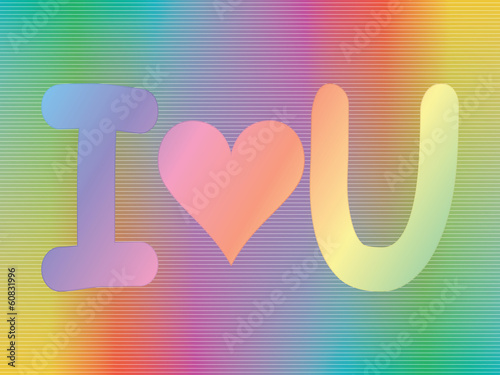 i love you sign over spectrum background