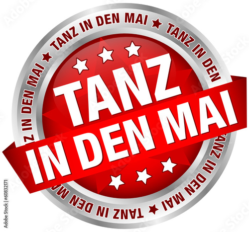 "Button Banner ""Tanz in den Mai"" rot/silber"