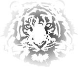 tiger head in gradient interpretation