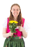 Youngster bought yellow roses for mothers day poster