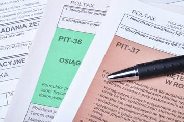 Polish tax forms
