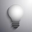 Abstract lightbulb 3d illustration