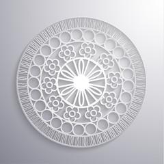 Ornate ethnic paper styled illustration