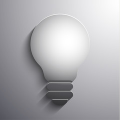 Abstract lightbulb 3d illustration