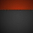 Leather Texture Background with Stitched Red Stripe - 60833718