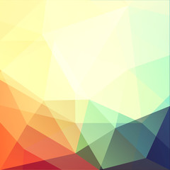 Vibrant triangular background