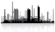 Oil refinery silhouette. Vector illustration. - 60833910