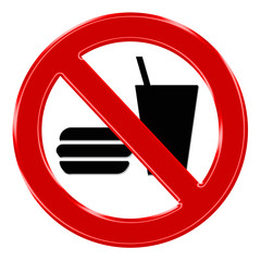 Verbotszeichen - Essen und Trinken verboten