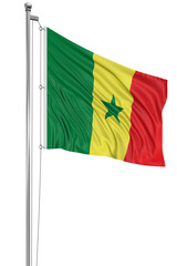 3D flag of Senegal