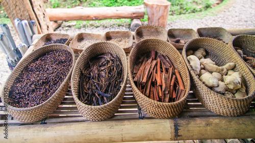 Foto op Plexiglas Indonesië Spices on the farm