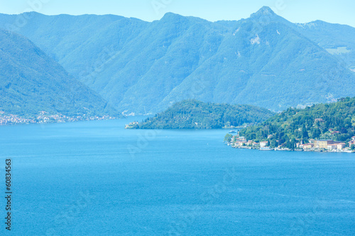 Lake Como summer view (Italy)