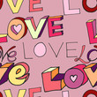 "words ""i love you"" on pink background"
