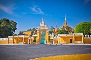 The entrance of Royal palace , Phnom Penh, Cambodia.