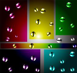 Atoms color vector illustration