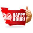 Happy Hour! Button, Icon
