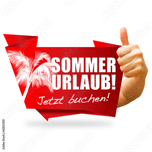 Sommerurlaub! Button, Icon