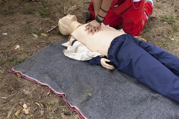 First aid - cardiac massage