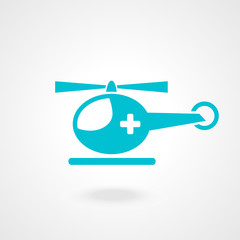 medical helicopter - vector illustration