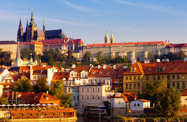 Czech republic, Prague, look on Gradchana and the Vltava River