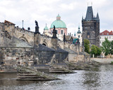 Charles Bridge and the Old Gate, Prague, Czech Republic, Europe