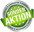 """Button Banner """"Sonderaktion"""" grün/silber"""