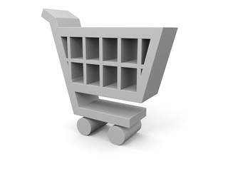 3D illustration of shopping cart