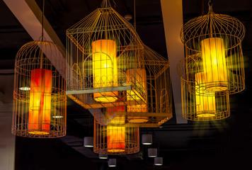 Birdcage hanging lamp
