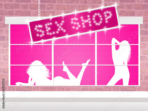 illustration of sex shop