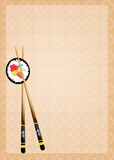 illustration of sushi menu
