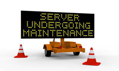 Server undergoing maintenance