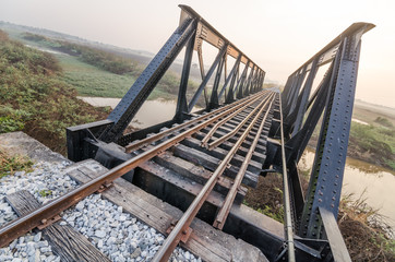 Line of bridge railway