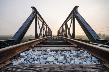 Old bridge railway