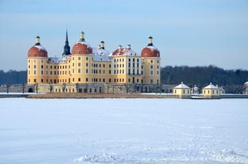 Schloss Moritzburg in der Winterzeit