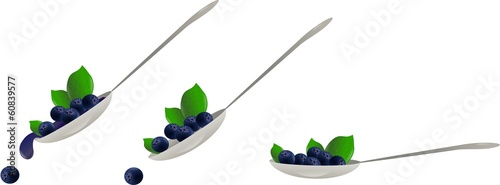 Blueberry spoon