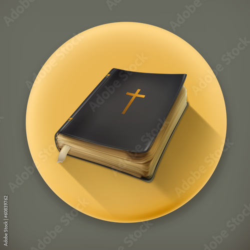 Bible, long shadow vector icon